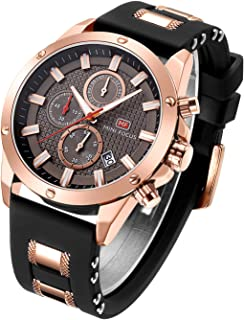 Men Casual Sport Watches Fashion Quartz Chronograph Waterproof Wristwatch for Men with Date Display …
