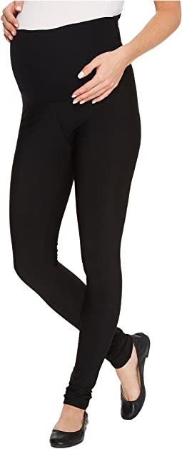 Maternity Fleece-Lined Matte Spandex Leggings