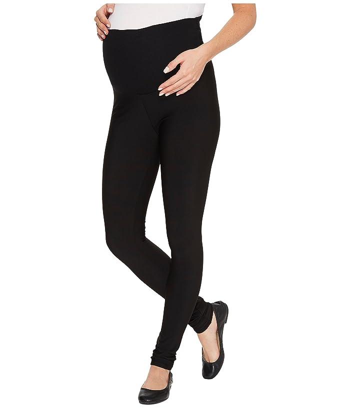 Plush Maternity Fleece-Lined Matte Spandex Leggings (Black) Women