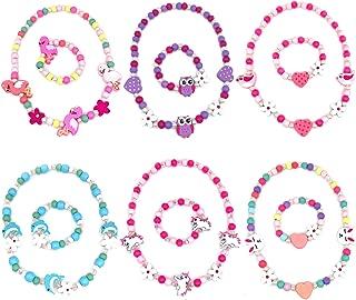 Elesa Miracle Little Girl Kids Unicorn Owl Flamingo Woodland Necklace Bracelet Set