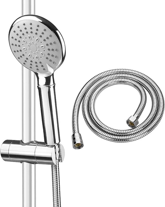 315 opinioni per ASTOTSELL- Kit soffione doccia con tubo flessibile e staffa di supporto per