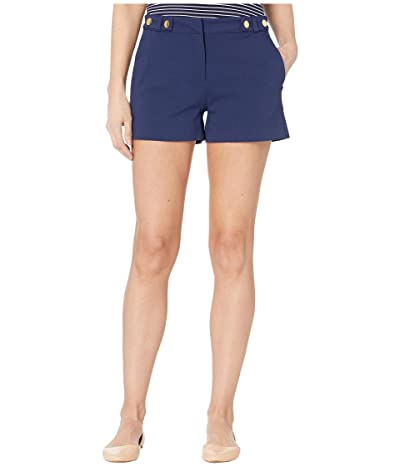 MICHAEL Michael Kors Snap Waist Shorts (True Navy) Women