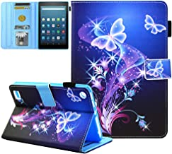 Kindle Fire 7 Case 2019 Old Tablet-JZCreater PU Leather Case Cover with Auto Wake/Sleep for Amazon Fire 7 Tablet(7inch Dis...