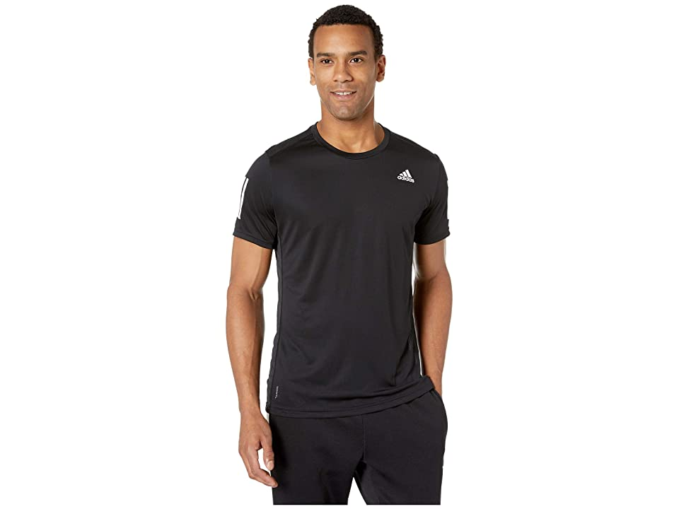 adidas Own The Run Tee (Black/White) Men's T Shirt