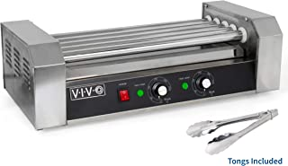 VIVO Electric 12 Hot Dog and 5 Roller Grill Cooker Warmer | Cooker Machine (HOTDG-V005)