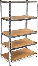 TecTake Étagère d'atelier de Rangement - diverses modèles - (avec 5 étagères | no. 402172)