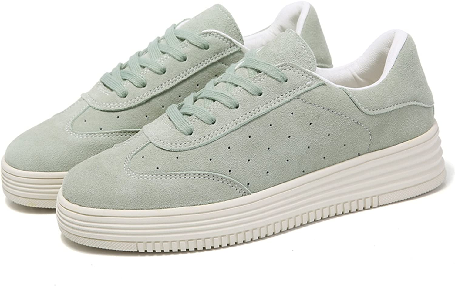 Reedbler Spring New Women shoes Flat Platform Casual shoes Leather Female Fashion Classic White Canvas shoes Increased Girls Plus Size