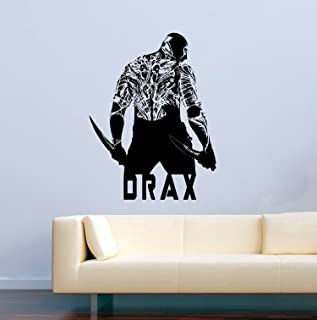 USA Decals4You Best Marvell Guardians of The Galaxy Vinyl Wall Decals Drax with Tattoo Film Stickers Vinyl Decor MK5248