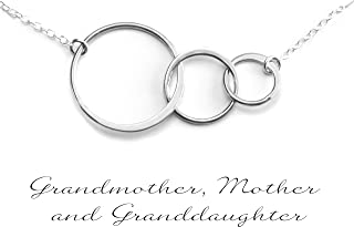 GENERATIONS NECKLACE - GRANDMA NECKLACE - PURE Sterling Silver Necklace (Handmade in the USA by Gracefully Made Jewelry)