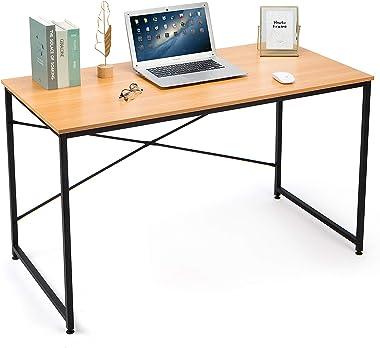 MUEBLES - Escritorio para computadora de 47 pulgadas, mesa de estudio de oficina, rústico, industrial, simple, con marco de m