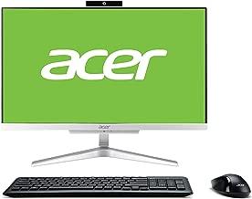 Acer Aspire C22-865 Ordinateur de Bureau Tout en Un 21.5 FHD (Intel Core i3-8130, 4 Go RAM, 1 to HDD, Windows 10 Home) Argent