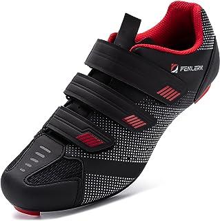 URDAR Zapatillas de Ciclismo Hombre Bicicleta Carretera Calzado de Ciclismo Transpirable Antideslizante Suela de Carbono