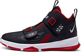 Kids' Grade School Lebron Soldier 13 Basketball Shoes (7, Black/University Red)