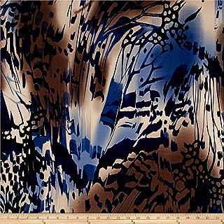TELIO Brazil Stretch ITY Knit Abstract, Yard, Navy