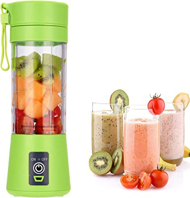 Portable Blender USB Rechargeable, Cordless Mini Personal Blender Juicer Cup, Single Serve Smoothie Blender Fruit Mixer, Small Travel Blender with 110-Watt Base - Shakes, Smoothies, Baby Food