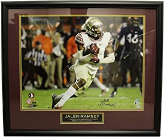 Jalen Ramsey Autographed Signed 16x20 Framed Photo (White Jersey) w/Nameplate - Beckett Certified Authentic