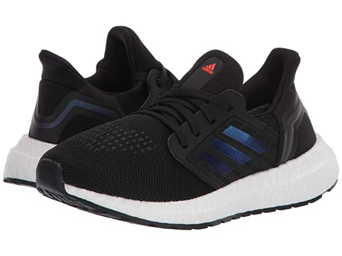 adidas Kids  UltraBOOST 20 (Little Kid) (Black/Blue Metallic/White) Kids Shoes