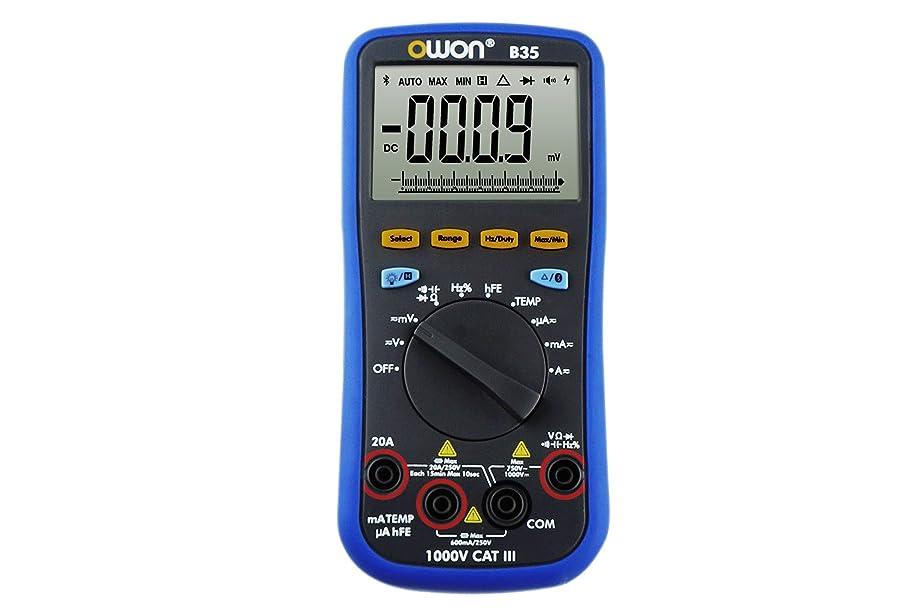 メロドラマティック解決禁じるOWON デジタルマルチメーター Bluetooth対応 True RMS バックライト B35T