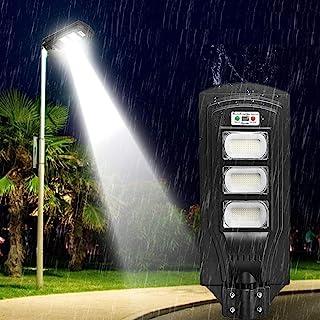 BBZZ Lampe solaire de sécurité 60/120180 LED - Panneau solaire étanche pour pelouse et jardin - Couleur : mât de montage