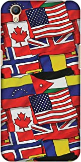 AMZER Slim Fit Handcrafted Designer Printed Hard Shell Case Back Cover for Oppo A37 - Flags United