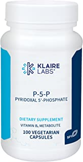 Klaire Labs P-5-P - 30 Milligrams of Bioactive Vitamin B6 Pyridoxal-5-Phosphate for Metabolic & Liver Support, Hypoallerge...