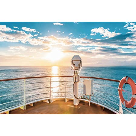 7x7FT Vinyl Photo Backdrops,Nautical,Big Ship at Sunset Photoshoot Props Photo Background Studio Prop