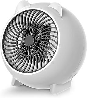 Mini Calefacdor Eléctrico, Calefactor Electrico de Aniones, Calefactor PTC, 250W Calefactor Ventilador Ceramico Portatil,Protección contra Sobrecalentamiento