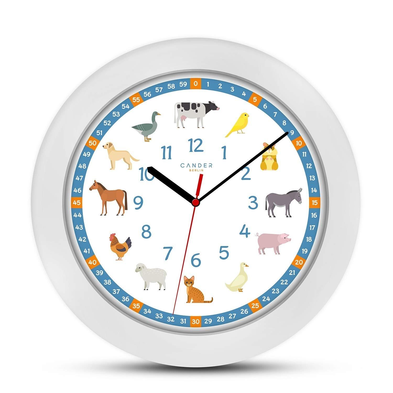 Wei/ß WS 8015/Designer Horloge Murale Technoline