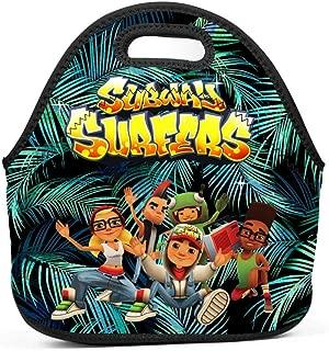 BEKAI | SUBway-SURfers Logo Insulated Neoprene Lunch Tote Bag Waterproof Lunch Box for Kids/Boys/Girls/Men/Women