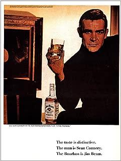 RelicPaper 1966 Jim Beam: The Man is Sean Connery, Jim Beam Print Ad