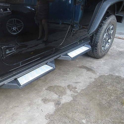 Mallofusa Side Step Nerf Bars Running Boards for 2007-2017 Jeep Wrangler JK 4 Door