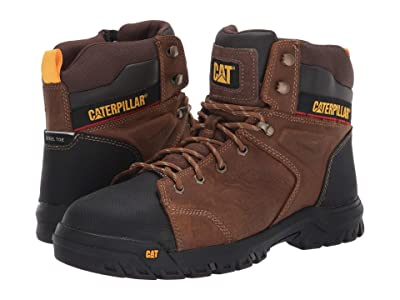 Caterpillar Wellspring Waterproof Metatarsal Guard Steel Toe (Real Brown Leather) Men