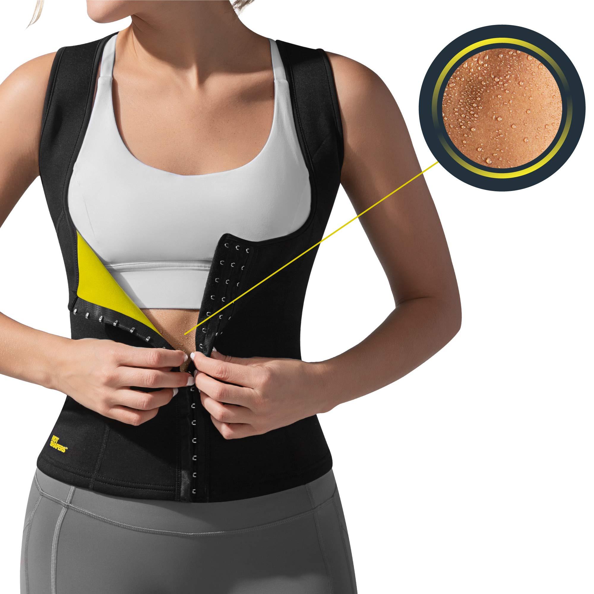 HOT SHAPERS Cami Hot Waist Cincher – Women Slimming Sweat Vest & Sauna Body Shaper (Small, Black)