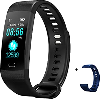 HYON Fitness Activity Sleep Tracker Heart Rate Blood Pressure Monitor Step Calorie Counter Health Pedometer Watch Smart Band Bluetooth Bracelet Waterproof Wristband for Kids & Adults