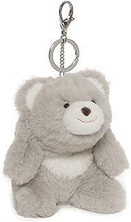 GUND Snuffles Teddy Bear Stuffed Plush Keychain, Grey, 5