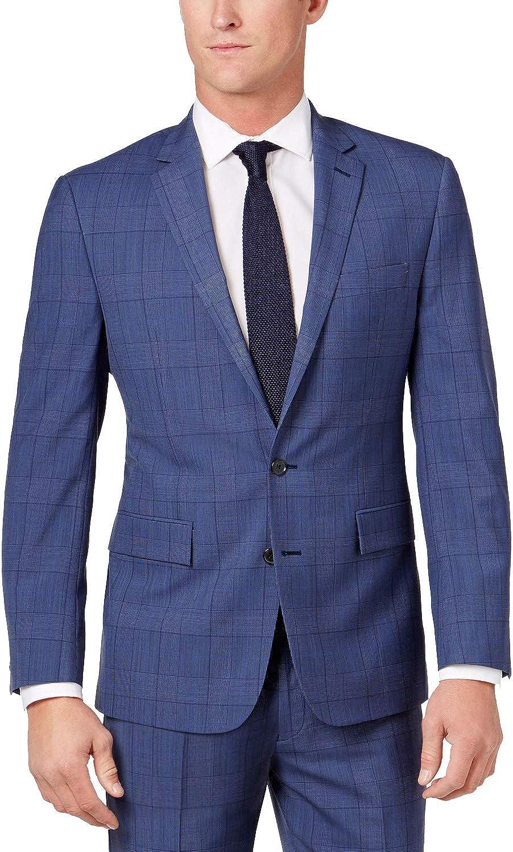 Ryan Seacrest Mens Herringbone Two Button Blazer Jacket