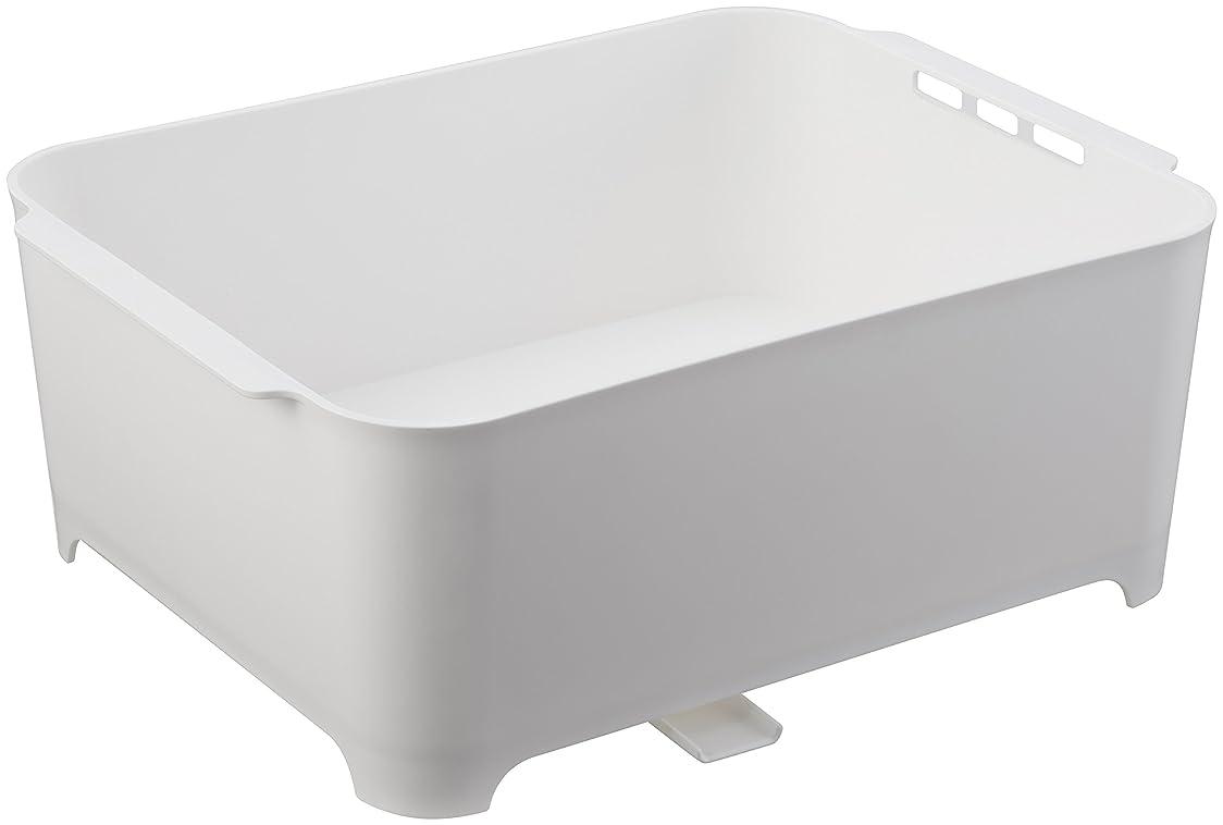 規模有効な多くの危険がある状況山崎実業 漬け置きできる 水切りラック 洗い桶 タワー ホワイト 3591