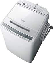 日立 全自動洗濯機 ビートウォッシュ 洗濯容量8kg 本体幅57cm 洗剤セレクト 大流量ナイアガラ ビート洗浄 BW-V80F W ホワイト