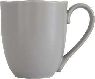 Fortessa Vitraluxe Dinnerware Heirloom Matte Finish Tapered Mug, 11.5 Ounce, Smoke, Set of 4
