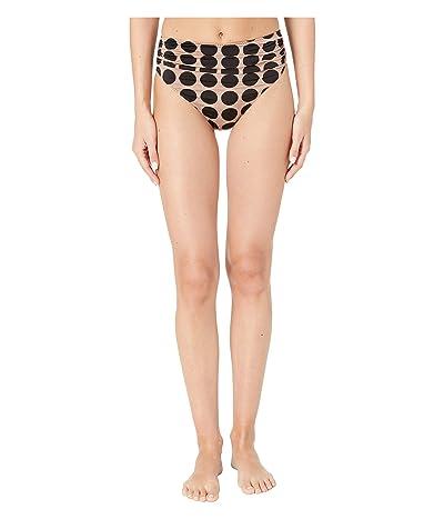 Stella McCartney Ballet Draped High-Waist Bikini Bottoms (Pink/Black) Women