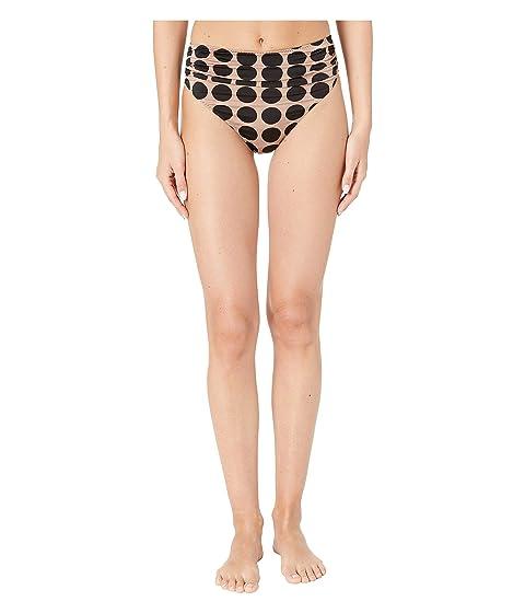 Stella McCartney Ballet Draped High-Waist Bikini Bottoms