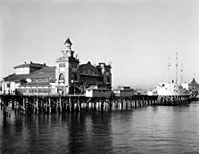Cats Paw Prints 1913 Venice Beach Wharf and Pavilion, CA Vintage Old Photo 8.5