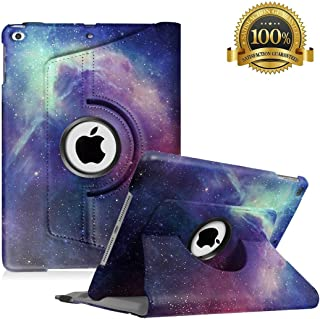 Hsxfl New iPad 9.7 inch 2018 2017/ iPad Air Case - 360 Degree Rotating Stand Smart Cover Case with Auto Sleep Wake for Apple iPad 9.7
