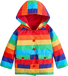 YNIQ Girls' Lightweight Raincoats
