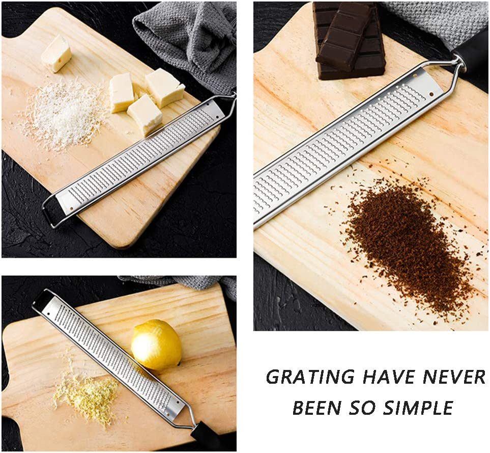 With Razor-Sharp Stainless Steel Blade,Protective Cover and Cleaning Brush 4Pcs Nutmeg Garlic fruits Lemon Zester /& Adjustable Measuring Spoon Set,Cheese Grater Chocolate
