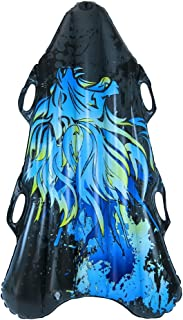 """Pipeline Sno Tomahawk II Inflatable 2 Person Snow Tube Sled with 4 Grip Handles, 56"""" Inch Length"""