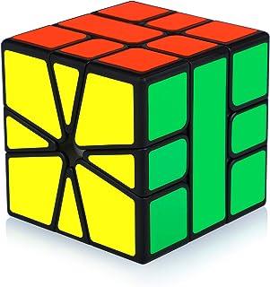 Maomaoyu Square 1 Square One SQ-1 SQ1 Skewb Puzzle Cube Magique Magic Cube Puzzle Ultra Rapide (Noir)