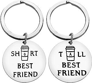 Best friend Matching Keychain Friendship Set of 2 Tall and Short Best Friend Keychain Set Cute Friendship Jewelry Gifts fo...