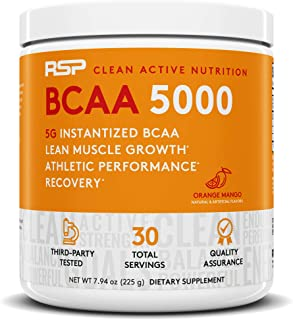 RSP BCAA 5000 (30 Serv), Premium BCAA Powder for Post Workout Muscle Recovery, Endurance & Energy, 5g of Essential Branche...