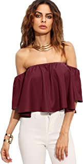 Best off shoulder bell sleeve crop top Reviews